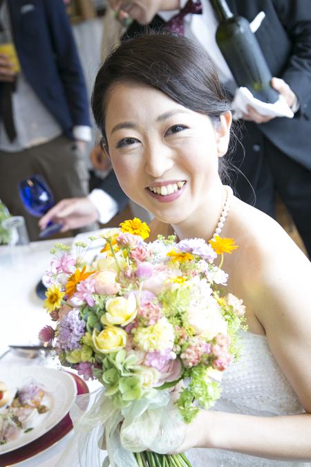 秋の装花 結婚式、楽しく過ごした一日に 雨上がり オレアジ様へ_a0042928_1924851.jpg