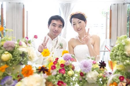 秋の装花 結婚式、楽しく過ごした一日に 雨上がり オレアジ様へ_a0042928_195107.jpg