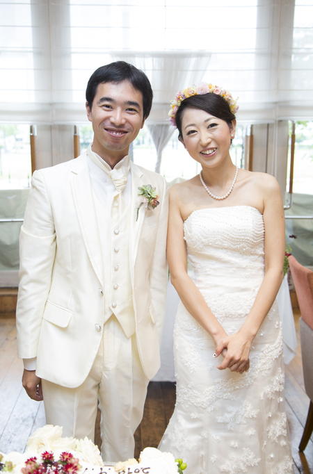 秋の装花 結婚式、楽しく過ごした一日に 雨上がり オレアジ様へ_a0042928_1953684.jpg