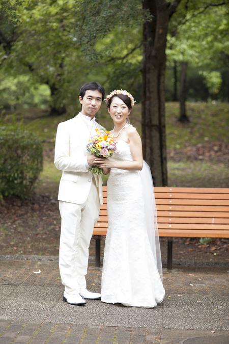 秋の装花 結婚式、楽しく過ごした一日に 雨上がり オレアジ様へ_a0042928_1981413.jpg