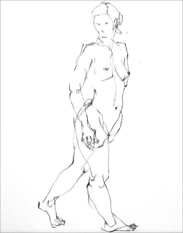 《 クロッキー(croquis)する。Ⅵ ・・・ 「裸婦線描」》 _f0159856_1033993.jpg