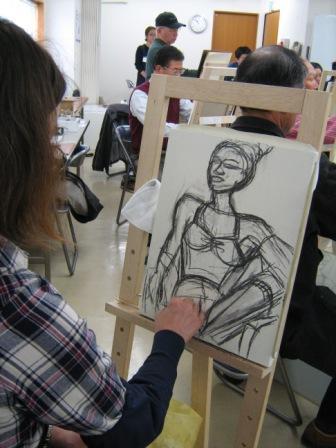 油彩人物「外人女性を描く」_f0238969_11244220.jpg