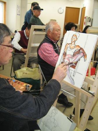 油彩人物「外人女性を描く」_f0238969_11252186.jpg