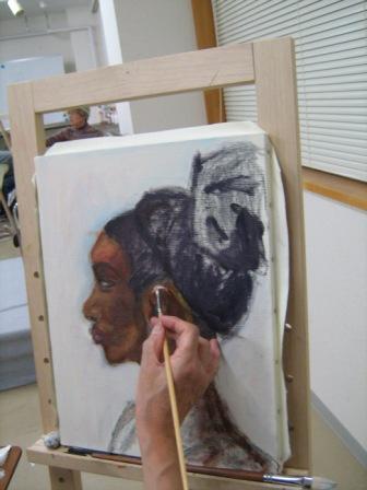 油彩人物「外人女性を描く」_f0238969_1126125.jpg