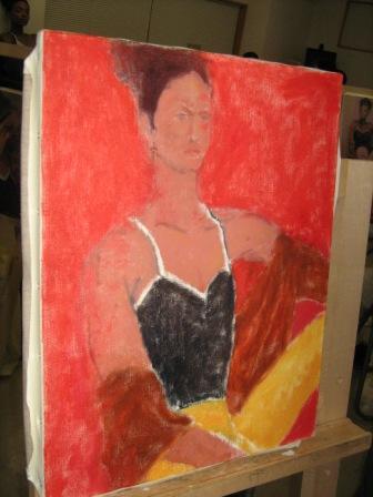 油彩人物「外人女性を描く」_f0238969_11323218.jpg