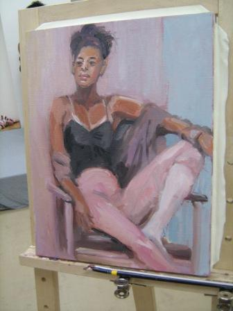 油彩人物「外人女性を描く」_f0238969_1132434.jpg
