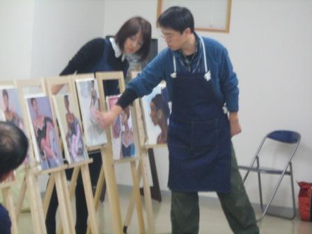 油彩人物「外人女性を描く」_f0238969_11333194.jpg