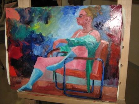 油彩人物「外人女性を描く」_f0238969_11441013.jpg