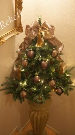 REKETTオリジナルクリスマスツリー&オリジナルフラワーキャンドルペアーで!_f0029571_10315632.jpg