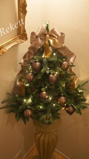 REKETTオリジナルクリスマスツリー&オリジナルフラワーキャンドルペアーで!_f0029571_10332045.jpg