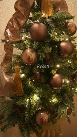REKETTオリジナルクリスマスツリー&オリジナルフラワーキャンドルペアーで!_f0029571_1038594.jpg