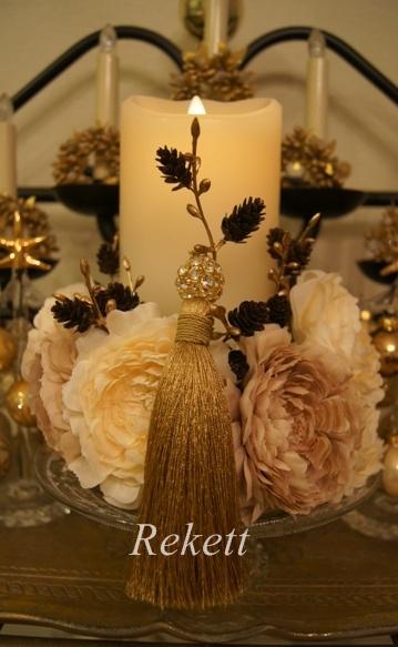 REKETTオリジナルクリスマスツリー&オリジナルフラワーキャンドルペアーで!_f0029571_1119121.jpg