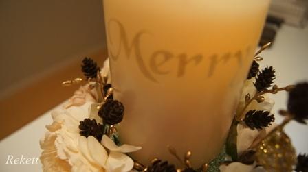 REKETTオリジナルクリスマスツリー&オリジナルフラワーキャンドルペアーで!_f0029571_11244846.jpg