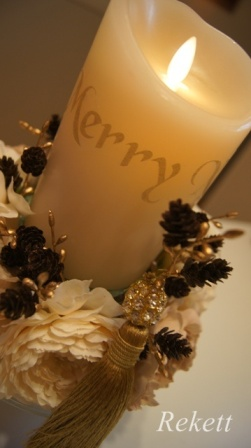REKETTオリジナルクリスマスツリー&オリジナルフラワーキャンドルペアーで!_f0029571_11272599.jpg