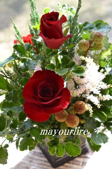 12月 NO.2 テーブルコーディネート マユールライラ 海吉教室_d0169179_23525273.jpg