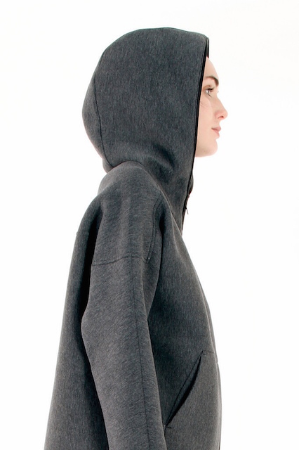 T BY ALEXANDER WANG SCUBA DOUBLE KNIT ZIP UP HOODIE WITH LEATHER TRIM_f0111683_12531231.jpg