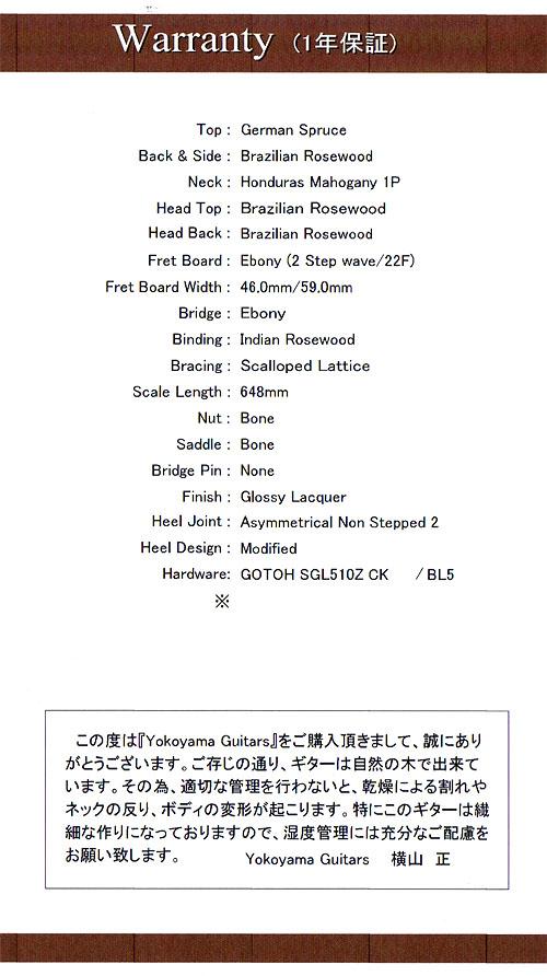 人生最高峰のギター! Yokoyama Guitars 『AR-GB #555』_c0137404_211464.jpg