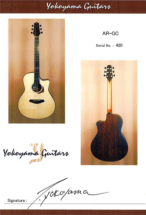 Yokoyama Guitars 『AR-GC #420』_c0137404_21363160.jpg