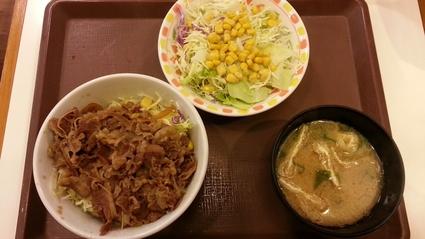 12/27 牛丼ライト+サラダセット¥475@すき家_b0042308_0143284.jpg