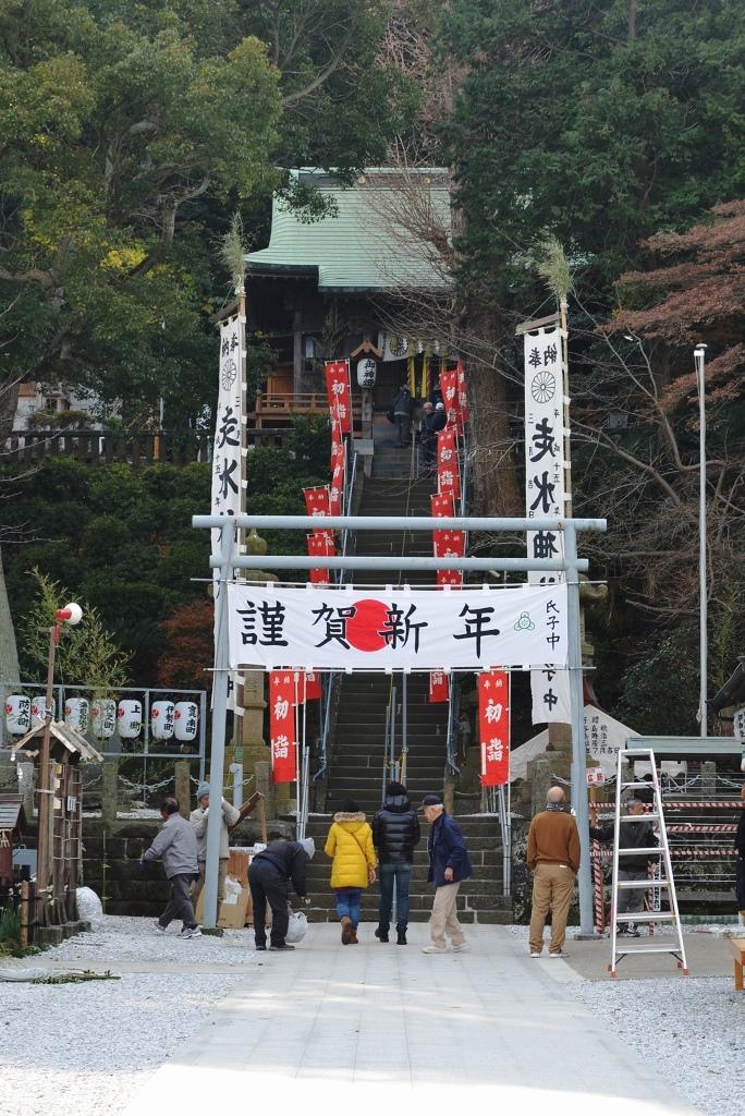 走水神社 新年の準備_d0065116_21384571.jpg