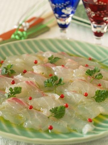 【新年】開運レシピです~真鯛のカルパッチョ_e0078071_18323495.jpg