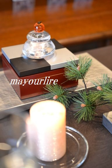 12月 NO.2 テーブルコーディネート マユールライラ 海吉教室_d0169179_0232349.jpg