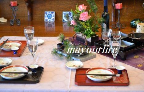 12月 NO.2 テーブルコーディネート マユールライラ 海吉教室_d0169179_054919.jpg