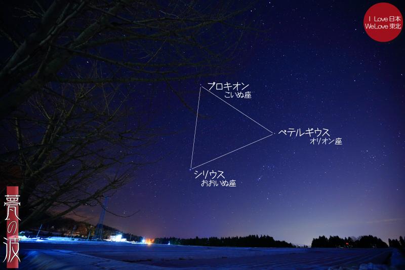 新瀬戸地区から望む、冬の大三角_b0157849_10074014.jpg