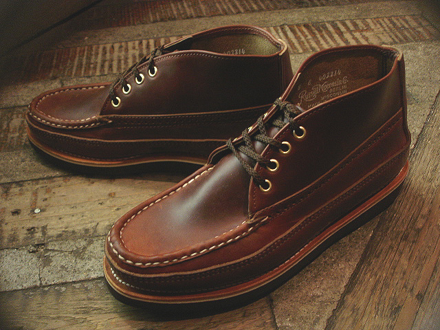 NEW : RUSSELL MOCCASIN CO.[Sporting Clays Chukka] & [Knock-A-Bout Boot with Strap] !!_a0132147_1174493.jpg