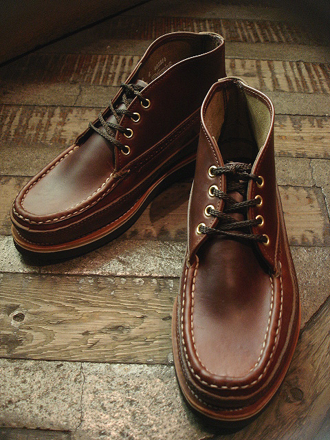NEW : RUSSELL MOCCASIN CO.[Sporting Clays Chukka] & [Knock-A-Bout Boot with Strap] !!_a0132147_1182567.jpg