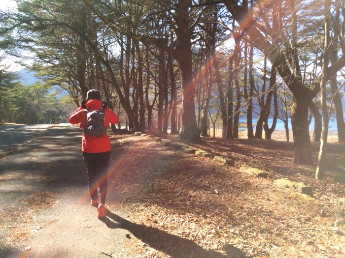 2014.12.27-29 富士山一周トレイル day2 河口湖・鳴沢-朝霧_b0219778_16235234.jpg