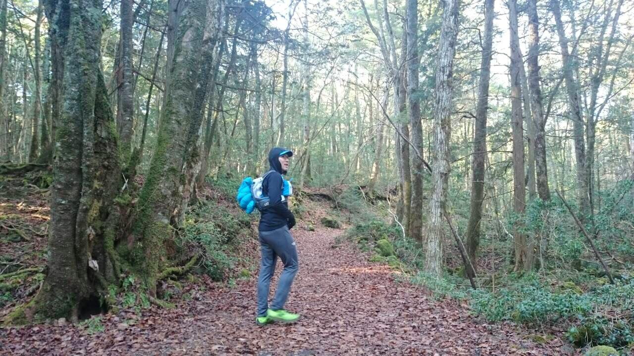 2014.12.27-29 富士山一周トレイル day2 河口湖・鳴沢-朝霧_b0219778_16332668.jpg