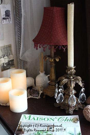 アンティークのシャンデリアと 燭台。 寝室改造計画 1_e0237680_11312341.jpg
