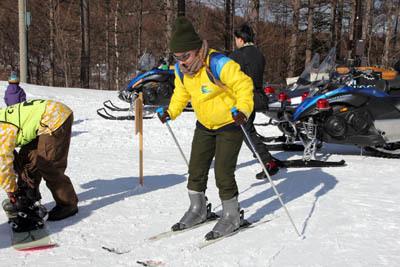 エレーナ、スキーをやってみた…_f0145483_21211328.jpg