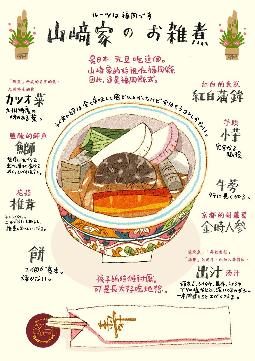 山崎家のお雑煮_e0022403_12583412.jpg
