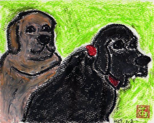 ラブラドール犬の親子_e0232277_10442018.jpg