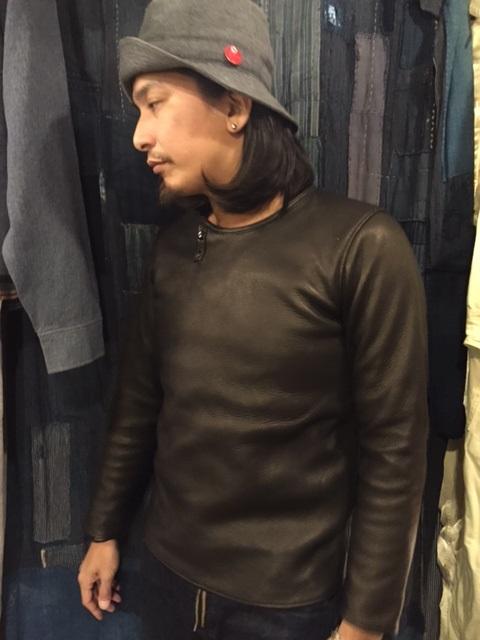Leather Long Sleeve Tee_d0121303_20594627.jpg