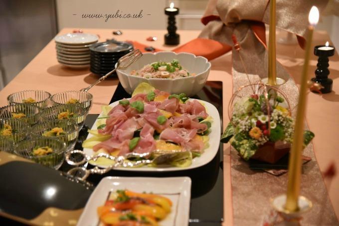 新年ですが。。。大晦日のパーティーのテーブルです(^^;)_b0313387_06323429.jpg