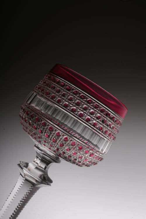 """Baccarat \"""" Flers\"""" style red glass_c0108595_20251029.jpg"""