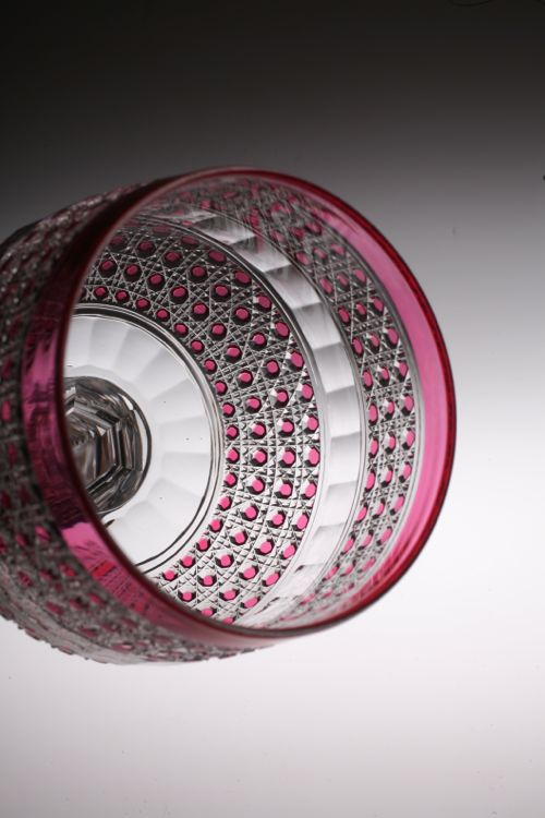 """Baccarat \"""" Flers\"""" style red glass_c0108595_20271290.jpg"""