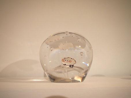 高城加世子さんのガラスペーパーウエイト/羊_b0322280_18502644.jpg