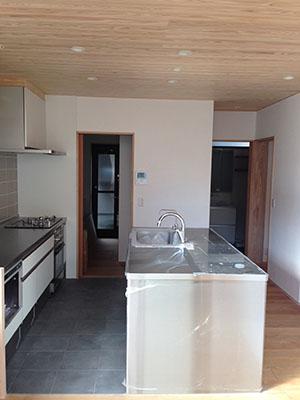 「キッチンを囲む家」の外観が現れました_f0170331_1719210.jpg