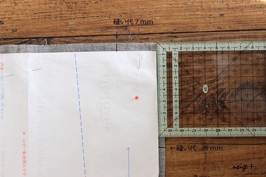 仕上がりが1番綺麗な内布付ファスナーポーチの作り方(マロン巾着アレンジ)_f0023333_10482176.jpg