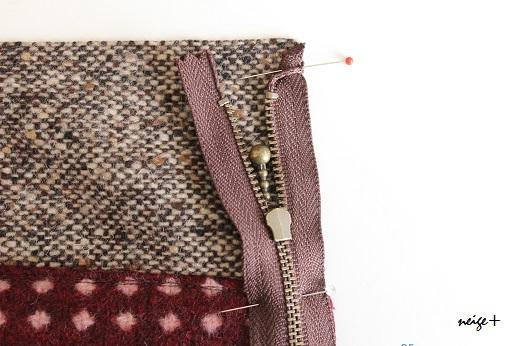 仕上がりが1番綺麗な内布付ファスナーポーチの作り方(マロン巾着アレンジ)_f0023333_10485985.jpg