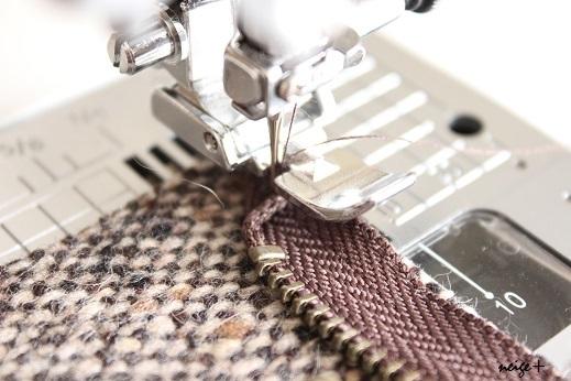 仕上がりが1番綺麗な内布付ファスナーポーチの作り方(マロン巾着アレンジ)_f0023333_10491161.jpg