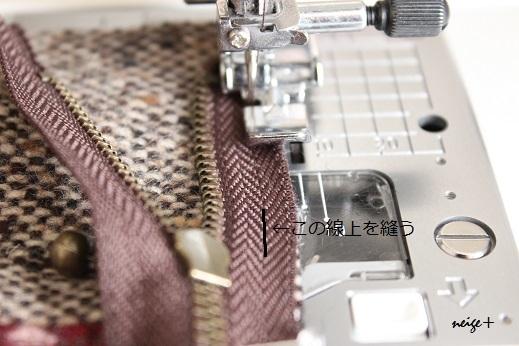 仕上がりが1番綺麗な内布付ファスナーポーチの作り方(マロン巾着アレンジ)_f0023333_10491703.jpg
