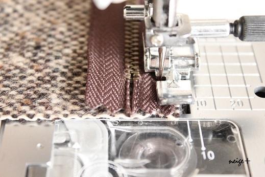 仕上がりが1番綺麗な内布付ファスナーポーチの作り方(マロン巾着アレンジ)_f0023333_10492529.jpg