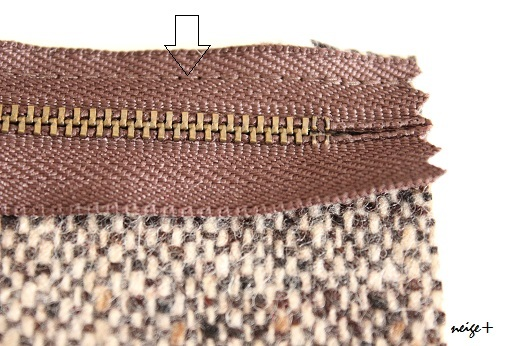 仕上がりが1番綺麗な内布付ファスナーポーチの作り方(マロン巾着アレンジ)_f0023333_11070443.jpg