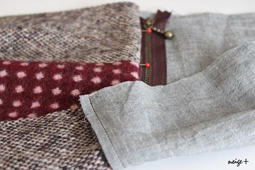 仕上がりが1番綺麗な内布付ファスナーポーチの作り方(マロン巾着アレンジ)_f0023333_11074759.jpg
