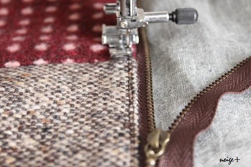仕上がりが1番綺麗な内布付ファスナーポーチの作り方(マロン巾着アレンジ)_f0023333_11075492.jpg